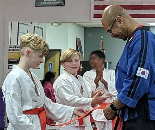 Taekwondo orange belt tipping